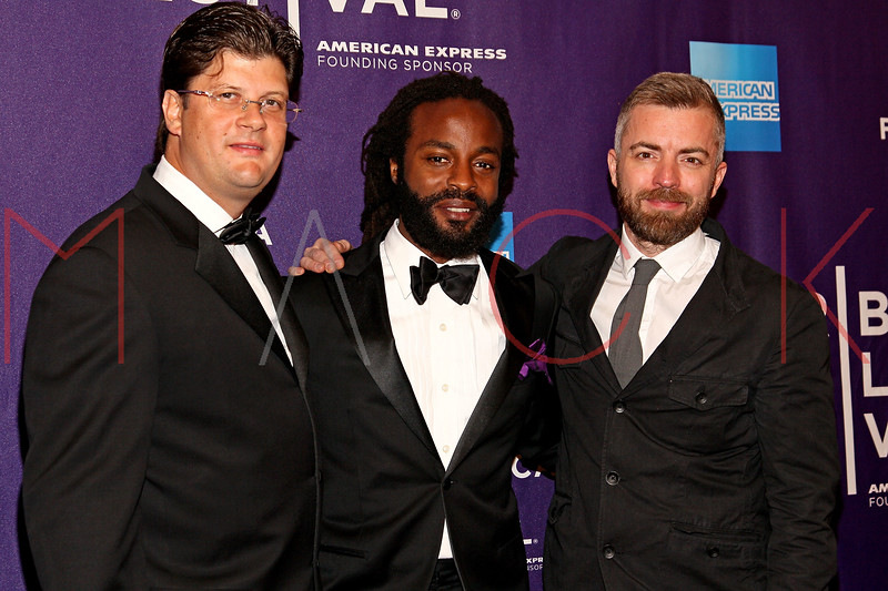 "NEW YORK, NY - APRIL 20:  Executive producer Christophe Charlier, executive producer/singer John Forte and musician/producer Brian Satz attend the premiere of ""Russian Winter"" during the 2012 Tribeca Film Festival at the AMC Loews Village 7 on April 20, 2012 in New York City.  (Photo by Steve Mack/S.D. Mack Pictures)"
