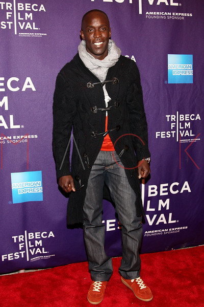 "NEW YORK, NY - APRIL 20:  Michael Williams attends the premiere of ""Russian Winter"" during the 2012 Tribeca Film Festival at the AMC Loews Village 7 on April 20, 2012 in New York City.  (Photo by Steve Mack/S.D. Mack Pictures)"