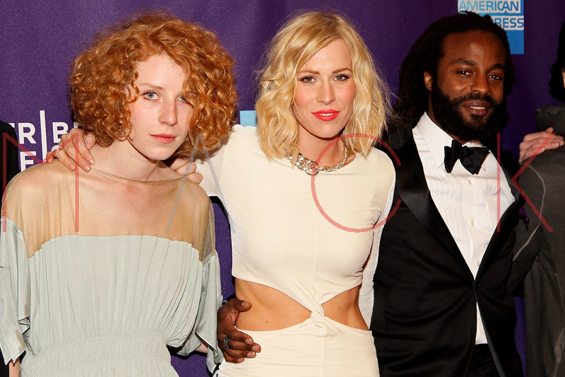 "NEW YORK, NY - APRIL 20:  Musician Alina Orlova, singer Natasha Bedingfield and executive producer/singer John Forte attend the premiere of ""Russian Winter"" during the 2012 Tribeca Film Festival at the AMC Loews Village 7 on April 20, 2012 in New York City.  (Photo by Steve Mack/S.D. Mack Pictures)"