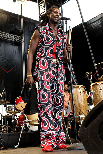 NEW YORK, NY - AUGUST 18:  Amayo of Antibalas performs during the 2012 Lacoste L!ve Concert Series at the Williamsburg Waterfront on August 18, 2012 in the Brooklyn borough of New York City.  (Photo by Steve Mack/S.D. Mack Pictures)
