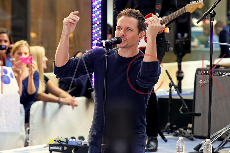"NEW YORK, NY - AUGUST 17:  Drew Lachey of 98 Degrees performs on NBC's ""Today"" at Rockefeller Plaza on August 17, 2012 in New York City.  (Photo by Steve Mack/S.D. Mack Pictures)"