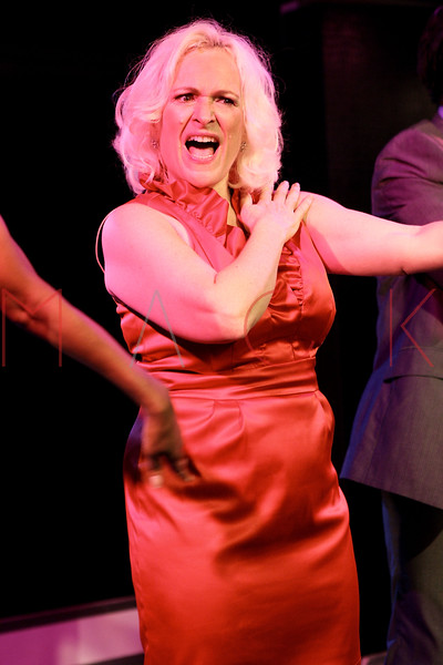"NEW YORK, NY - AUGUST 26:  Babs Winn during the curtain call for the opening night of ""Cougar the Musical"" at St. Luke's Theater on August 26, 2012 in New York City.  (Photo by Steve Mack/S.D. Mack Pictures)"