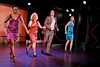 "NEW YORK, NY - AUGUST 26:  Brenda Braxgton, Babs Winn, Danny Bernardy and Catherine Porter during the curtain call for the opening night of ""Cougar the Musical"" at St. Luke's Theater on August 26, 2012 in New York City.  (Photo by Steve Mack/S.D. Mack Pictures)"