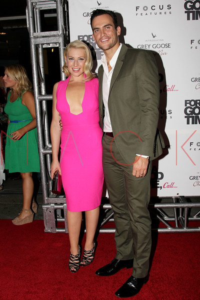 "NEW YORK, NY - AUGUST 21:  Actress Ari Graynor and Cheyenne Jackson attend the ""For A Good Time, Call..."" premiere at Regal Union Square on August 21, 2012 in New York City.  (Photo by Steve Mack/S.D. Mack Pictures)"