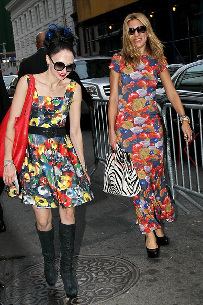 "NEW YORK, NY - AUGUST 21:  Designer Stacey Bendet and Dani Stahl attend the ""For A Good Time, Call..."" premiere at Regal Union Square on August 21, 2012 in New York City.  (Photo by Steve Mack/S.D. Mack Pictures)"