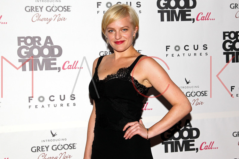 "NEW YORK, NY - AUGUST 21:  Actress Elisabeth Moss attends the ""For A Good Time, Call..."" premiere at Regal Union Square on August 21, 2012 in New York City.  (Photo by Steve Mack/S.D. Mack Pictures)"