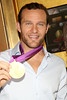 NEW YORK, NY - AUGUST 23:  6-Time Olympic Gold medalist swimmer Brendon Hanson attends the grand re-opening of Stack's Bowers Galleries on August 23, 2012 in New York City.  (Photo by Steve Mack/S.D. Mack Pictures)