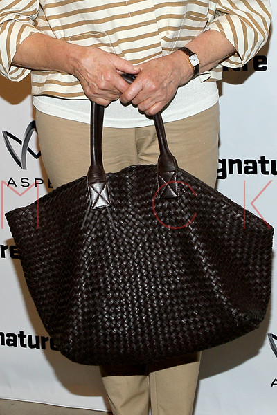 "NEW YORK, NY - AUGUST 27:  Martha Stewart (handbag detail) attends the ""Heartless"" opening night party at Signature Theatre Company's Pershing Square Signature Center on August 27, 2012 in New York City.  (Photo by Steve Mack/S.D. Mack Pictures)"