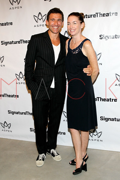 "NEW YORK, NY - AUGUST 27:  Jonathan Cake and Julianne Nicholson attend the ""Heartless"" opening night party at Signature Theatre Company's Pershing Square Signature Center on August 27, 2012 in New York City.  (Photo by Steve Mack/S.D. Mack Pictures)"