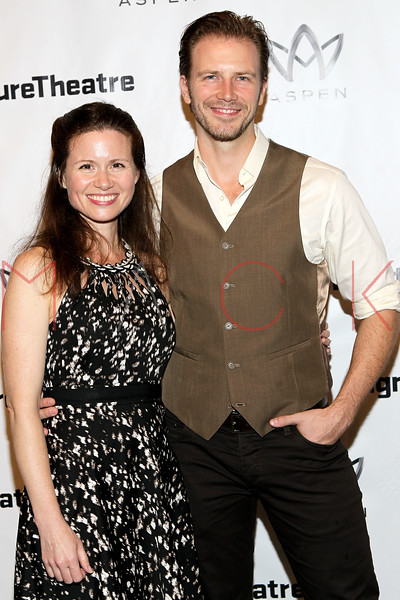 "NEW YORK, NY - AUGUST 27:  Maggie Lacey and Bill Heck attend the ""Heartless"" opening night party at Signature Theatre Company's Pershing Square Signature Center on August 27, 2012 in New York City.  (Photo by Steve Mack/S.D. Mack Pictures)"