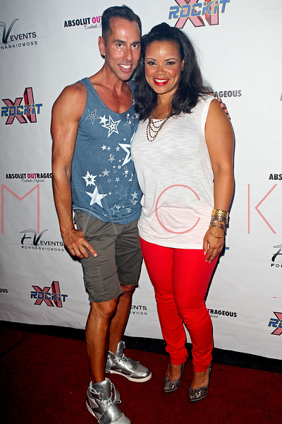 NEW YORK, NY - AUGUST 10:  Tony Fornabaio and Kimberley Locke at XL Cabaret on August 10, 2012 in New York City.  (Photo by Steve Mack/S.D. Mack Pictures)