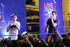 NEW YORK, NY - AUGUST 22:  Nathan Sykes and Tom Parker perform during JetBlue's Live From T5 Concert Series at John F. Kennedy International Airport on August 22, 2012 in the Queens borough of New York City.  (Photo by Steve Mack/S.D. Mack Pictures)