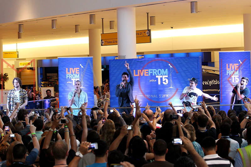 NEW YORK, NY - AUGUST 22:  Jay McGuiness, Max George, Siva Kaneswaran, Nathan Sykes and Tom Parker perform during JetBlue's Live From T5 Concert Series at John F. Kennedy International Airport on August 22, 2012 in the Queens borough of New York City.  (Photo by Steve Mack/S.D. Mack Pictures)
