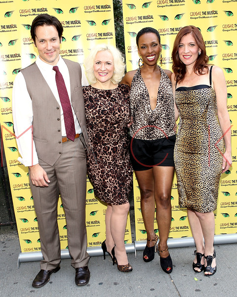 "NEW YORK, NY - AUGUST 26:  Danny Bernardy, Babs Winn, Brenda Braxton and Catherine Porter attend the after party for the opening night of ""Cougar the Musical"" at P.D. O'Hurley's on August 26, 2012 in New York City.  (Photo by Steve Mack/S.D. Mack Pictures)"