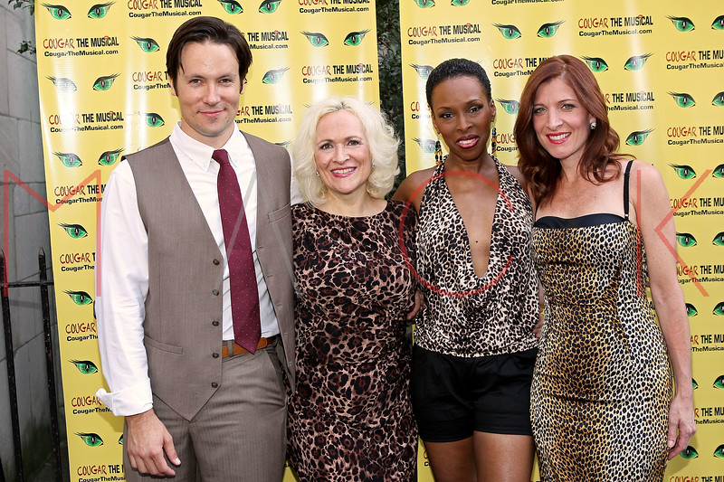 """NEW YORK, NY - AUGUST 26:  Danny Bernardy, Babs Winn, Brenda Braxton and Catherine Porter attend the after party for the opening night of """"Cougar the Musical"""" at P.D. O'Hurley's on August 26, 2012 in New York City.  (Photo by Steve Mack/S.D. Mack Pictures)"""