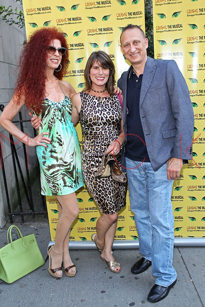 "NEW YORK, NY - AUGUST 26:  Susan Korwin, Creator and playwright Donna Moore and Robert Korwin attend the after party for the opening night of ""Cougar the Musical"" at P.D. O'Hurley's on August 26, 2012 in New York City.  (Photo by Steve Mack/S.D. Mack Pictures)"