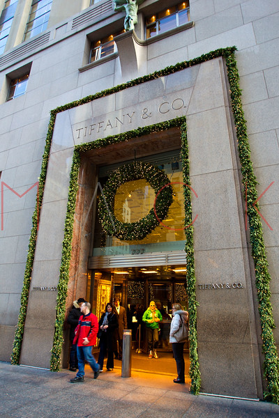 NEW YORK, NY - DECEMBER 13:  Tiffany & Co. Holiday Windows on December 13, 2012 in New York City.  (Photo by Steve Mack/S.D. Mack Pictures)