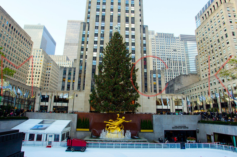 NEW YORK, NY - DECEMBER 13:  Rockefeller Center Holiday Decorations on December 13, 2012 in New York City.  (Photo by Steve Mack/S.D. Mack Pictures)