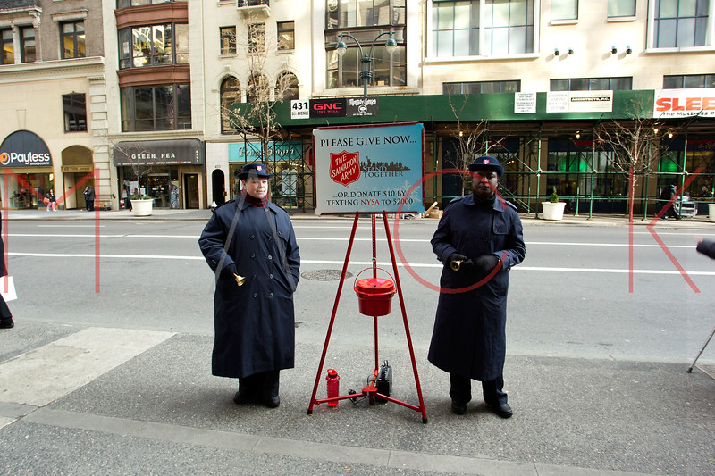 NEW YORK, NY - DECEMBER 13:  Salvation Army on December 13, 2012 in New York City.  (Photo by Steve Mack/S.D. Mack Pictures)