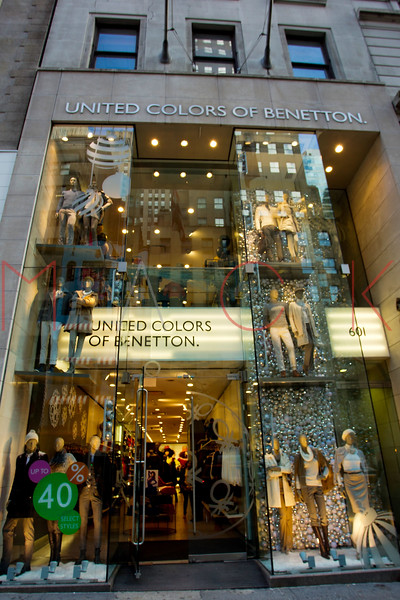 NEW YORK, NY - DECEMBER 13:  United Colors of Benetton Holiday Windows on December 13, 2012 in New York City.  (Photo by Steve Mack/S.D. Mack Pictures)