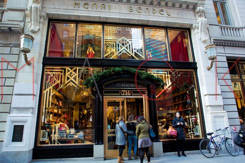 NEW YORK, NY - DECEMBER 13:  Henri Bendel Holiday Windows on December 13, 2012 in New York City.  (Photo by Steve Mack/S.D. Mack Pictures)