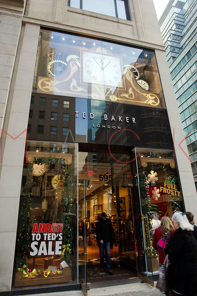 NEW YORK, NY - DECEMBER 13:  Ted Baker Holiday Windows on December 13, 2012 in New York City.  (Photo by Steve Mack/S.D. Mack Pictures)