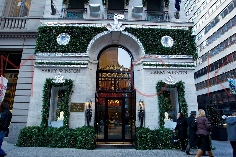 NEW YORK, NY - DECEMBER 13:  Harry Winston Holiday Windows on December 13, 2012 in New York City.  (Photo by Steve Mack/S.D. Mack Pictures)