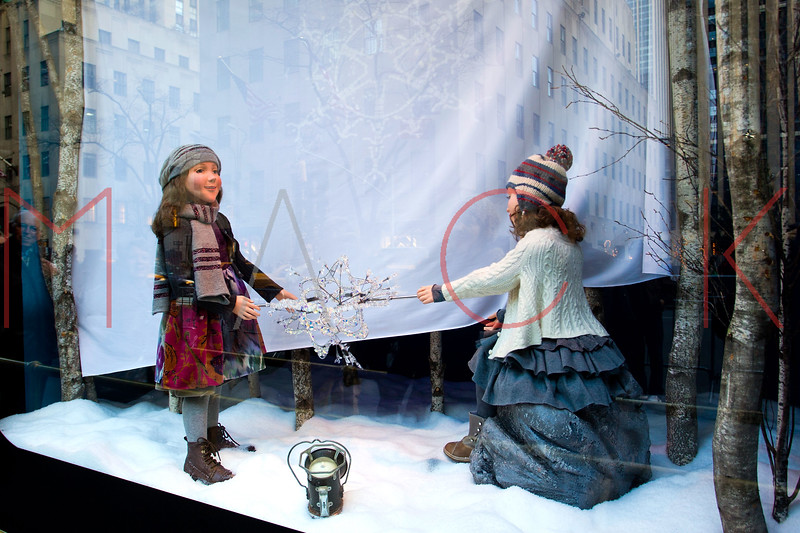 NEW YORK, NY - DECEMBER 13:  Saks Fifth Avenue Holiday Windows on December 13, 2012 in New York City.  (Photo by Steve Mack/S.D. Mack Pictures)