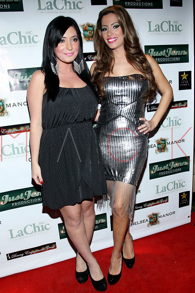 NEW YORK, NY - DECEMBER 14:  Angelina Pivarnick and Elizabeth Vashisht attend the Operation Mob Wives Saving Lives Hurricane Sandy Benefit at Chelsea Manor on December 14, 2012 in New York City.  (Photo by Steve Mack/S.D. Mack Pictures)