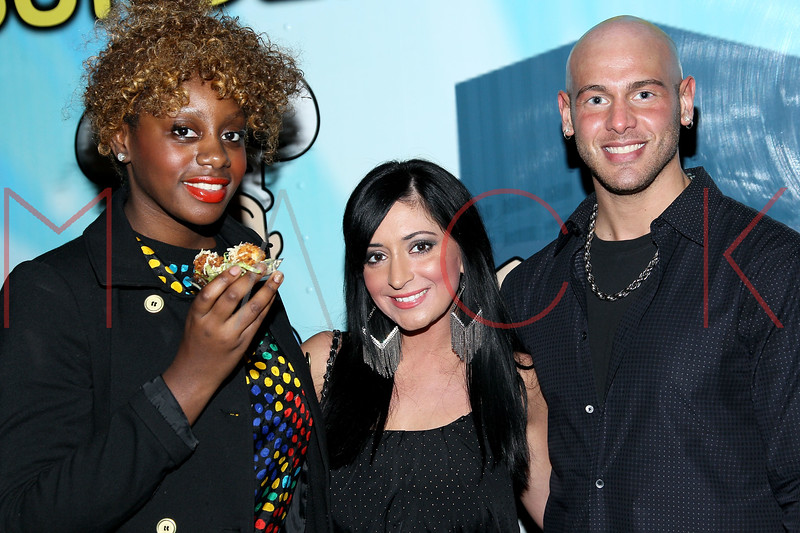 NEW YORK, NY - DECEMBER 14:  Celebrity Publicist Marie Driven, Angelina Pivarnick and Casey Cartel attend the Operation Mob Wives Saving Lives Hurricane Sandy Benefit at Chelsea Manor on December 14, 2012 in New York City.  (Photo by Steve Mack/S.D. Mack Pictures)