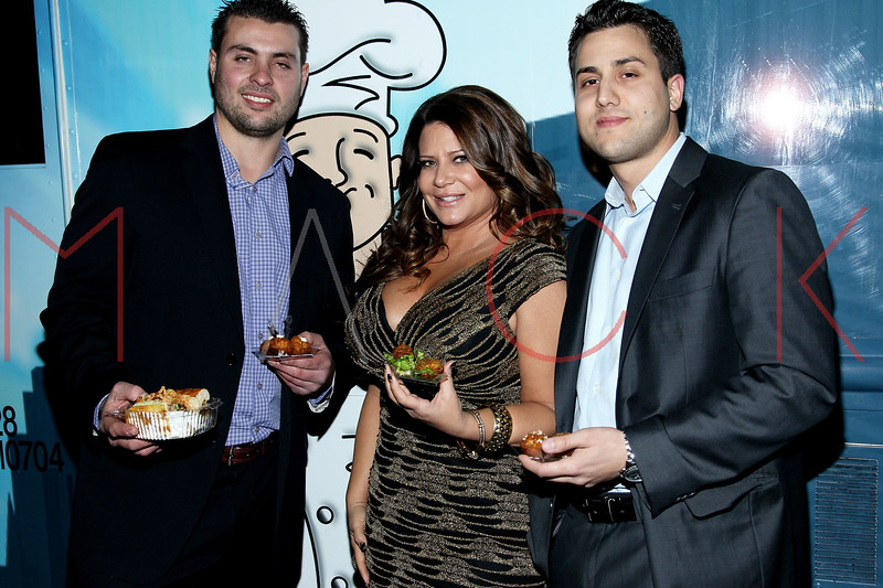 NEW YORK, NY - DECEMBER 14:  John Miholics, Karen Gravano and Dominic Tomanelli attend the Operation Mob Wives Saving Lives Hurricane Sandy Benefit at Chelsea Manor on December 14, 2012 in New York City.  (Photo by Steve Mack/S.D. Mack Pictures)
