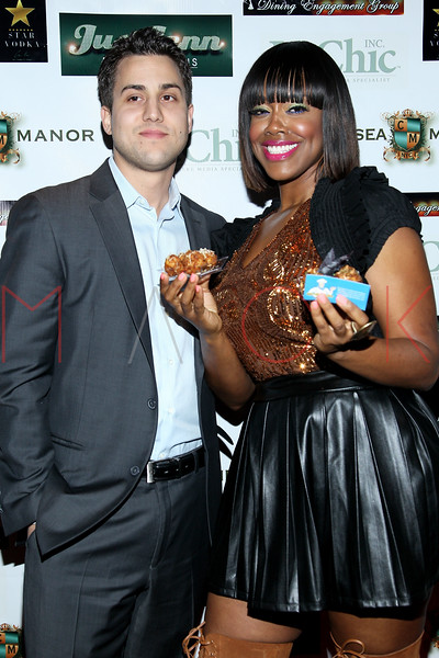 NEW YORK, NY - DECEMBER 14:  Dominic Tomanelli and Esnavi attend the Operation Mob Wives Saving Lives Hurricane Sandy Benefit at Chelsea Manor on December 14, 2012 in New York City.  (Photo by Steve Mack/S.D. Mack Pictures)