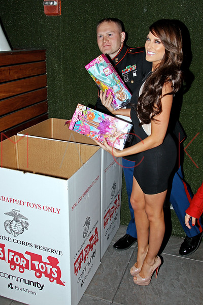 NEW YORK, NY - DECEMBER 15:  Barbie Blank (R) attends Hurricane Sandy Toys For Tots Benefit hosted by Boss Models And Barbie Blank on December 15, 2012 in New York, United States.  (Photo by Steve Mack/S.D. Mack Pictures)