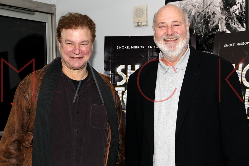 "NEW YORK, NY - DECEMBER 16:  Robert Wuhl and Rob Reiner attend the ""Show Stopper"" premiere at the DGA Theater on December 16, 2012 in New York City.  (Photo by Steve Mack/S.D. Mack Pictures)"