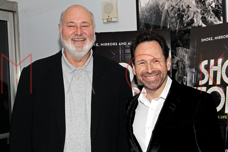 "NEW YORK, NY - DECEMBER 16:  Rob Reiner and Barry Avrich attend the ""Show Stopper"" premiere at the DGA Theater on December 16, 2012 in New York City.  (Photo by Steve Mack/S.D. Mack Pictures)"