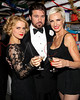 """NEW YORK, NY - DECEMBER 20:  Amy Spanger, Billy Ray Cyrus and Amra-Faye Wright attend """"Chicago"""" Broadway Musical Record Breaking Performance Celebration at Ambassador Theatre on December 20, 2012 in New York City.  (Photo by Steve Mack/S.D. Mack Pictures)"""