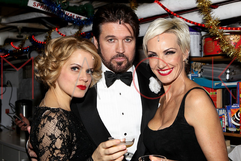 "NEW YORK, NY - DECEMBER 20:  Amy Spanger, Billy Ray Cyrus and Amra-Faye Wright attend ""Chicago"" Broadway Musical Record Breaking Performance Celebration at Ambassador Theatre on December 20, 2012 in New York City.  (Photo by Steve Mack/S.D. Mack Pictures)"
