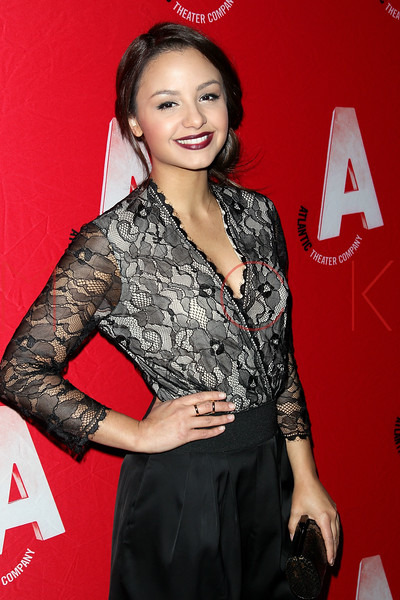 "NEW YORK, NY - DECEMBER 12:  Actress Aimee Carrero attends ""What Rhymes With American"" Opening Night After Party at Moran's Restaurant on December 12, 2012 in New York City.  (Photo by Steve Mack/S.D. Mack Pictures)"