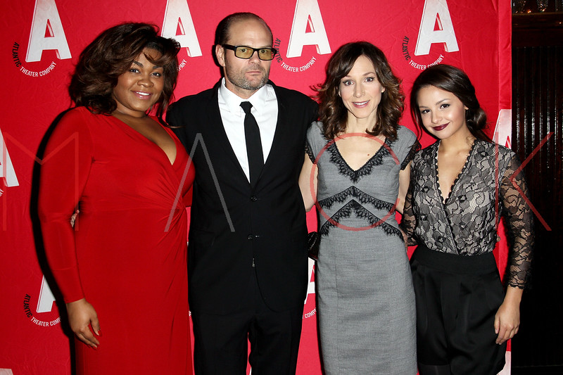 """NEW YORK, NY - DECEMBER 12:  Actors Da'Vine Joy Randolph, Chris Bauer, Seana Kofoed and Aimee Carrero attend the """"What Rhymes With American"""" Opening Night After Party at Moran's Restaurant on December 12, 2012 in New York City.  (Photo by Steve Mack/S.D. Mack Pictures)"""