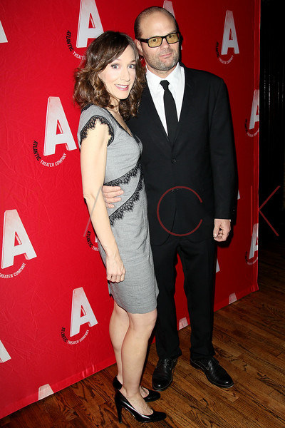 """NEW YORK, NY - DECEMBER 12:  Actors Seana Kofoed and Chris Bauer attend """"What Rhymes With American"""" Opening Night After Party at Moran's Restaurant on December 12, 2012 in New York City.  (Photo by Steve Mack/S.D. Mack Pictures)"""