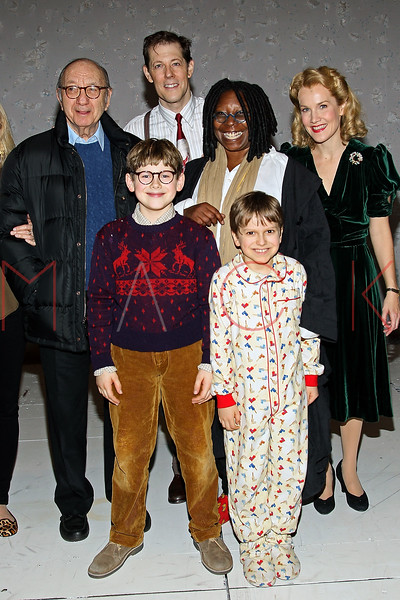 "NEW YORK, NY - DECEMBER 04:  Neil Simon, Johnny Rabe, John Bolton, Whoopi Goldberg, Zac Ballard and Erin Dill back stage at ""A Christmas Story, The Musical"" on December 4, 2012 in New York City.  (Photo by Steve Mack/S.D. Mack Pictures)"
