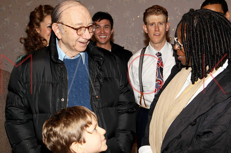 "NEW YORK, NY - DECEMBER 04:  Neil Simon and Whoopi Goldberg Attends ""A Christmas Story, The Musical"" on December 4, 2012 in New York City.  (Photo by Steve Mack/S.D. Mack Pictures)"