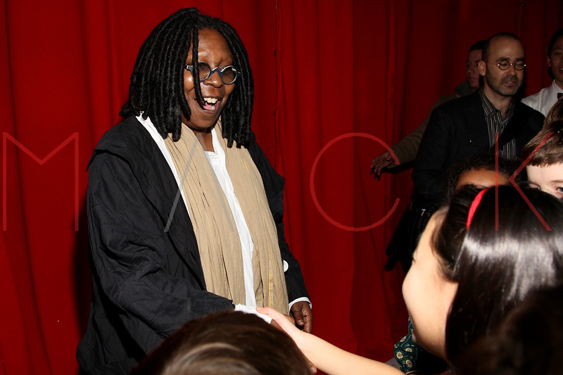 "NEW YORK, NY - DECEMBER 04:  Whoopi Goldberg back stage at ""A Christmas Story, The Musical"" on December 4, 2012 in New York City.  (Photo by Steve Mack/S.D. Mack Pictures)"