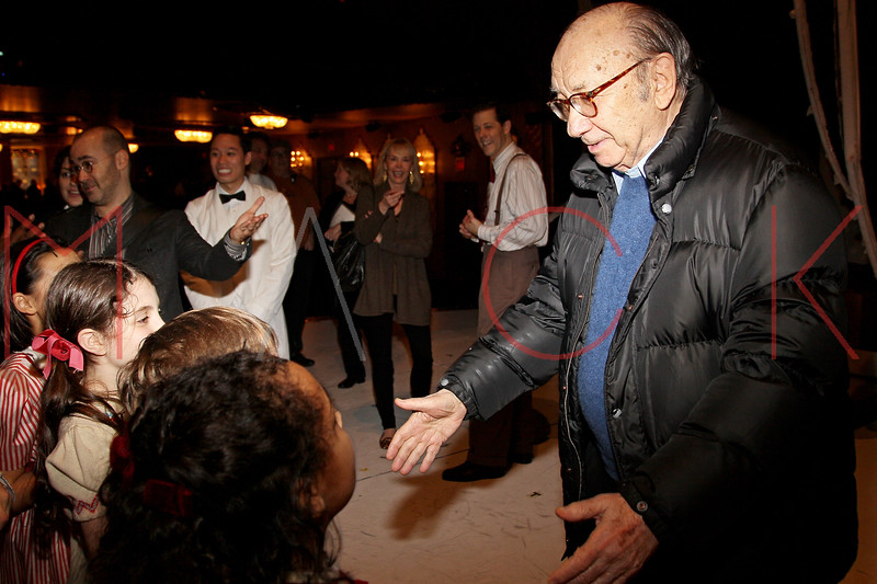 "NEW YORK, NY - DECEMBER 04:  Neil Simon back stage at ""A Christmas Story, The Musical"" on December 4, 2012 in New York City.  (Photo by Steve Mack/S.D. Mack Pictures)"