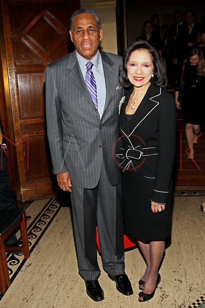 NEW YORK, NY - FEBRUARY 27:  Carl McCall and president of the Fashion Institute of Technology (FIT) Dr. Joyce F. Brown attend the 2012 New Yorker for New York gala at Gotham Hall on February 27, 2012 in New York City.  (Photo by Steve Mack/S.D. Mack Pictures)