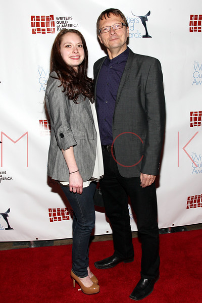 NEW YORK, NY - FEBRUARY 19:  WGA East Coast Executive Director Lowell Peterson (R) and Lexi Peterson attend the 2012 Writers Guild East Coast Awards at B.B. King Blues Club & Grill on February 19, 2012 in New York City.  (Photo by Steve Mack/S.D. Mack Pictures)