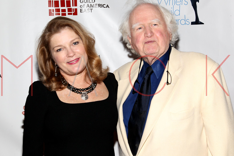 NEW YORK, NY - FEBRUARY 19:  Actress Kate Mulgrew and actor, writer and politician Malachy McCourt attend the 2012 Writers Guild East Coast Awards at B.B. King Blues Club & Grill on February 19, 2012 in New York City.  (Photo by Steve Mack/S.D. Mack Pictures)