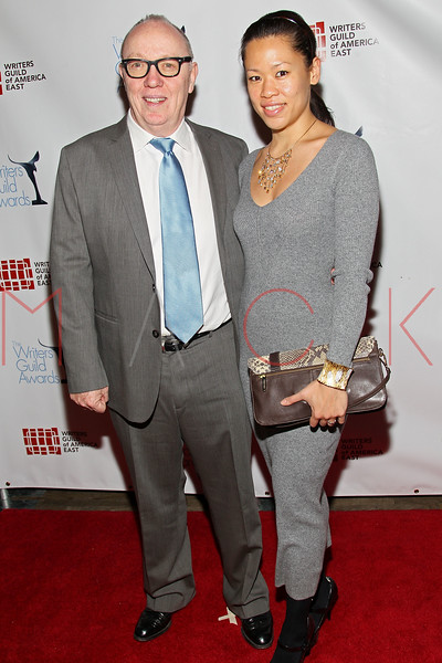 NEW YORK, NY - FEBRUARY 19:  Screenwriter and director Terry George and Tiffany Chen attend the 2012 Writers Guild East Coast Awards at B.B. King Blues Club & Grill on February 19, 2012 in New York City.  (Photo by Steve Mack/S.D. Mack Pictures)