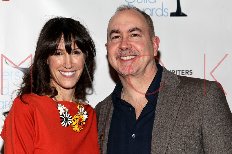 NEW YORK, NY - FEBRUARY 19:  Empire writer and creator Terence Winter (R) and Rachel Winter attend the 2012 Writers Guild East Coast Awards at B.B. King Blues Club & Grill on February 19, 2012 in New York City.  (Photo by Steve Mack/S.D. Mack Pictures)