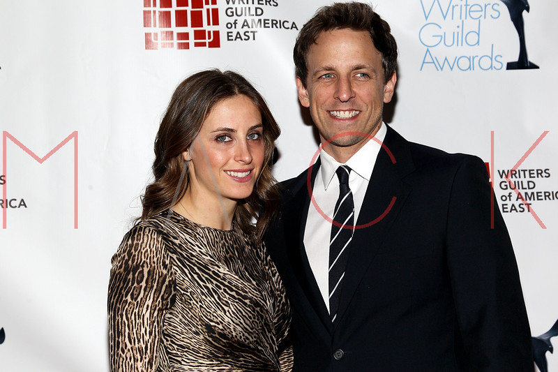 NEW YORK, NY - FEBRUARY 19:  Alexi Ashe and Saturday Night Live writer and comedian Seth Myers attend the 2012 Writers Guild East Coast Awards at B.B. King Blues Club & Grill on February 19, 2012 in New York City.  (Photo by Steve Mack/S.D. Mack Pictures)